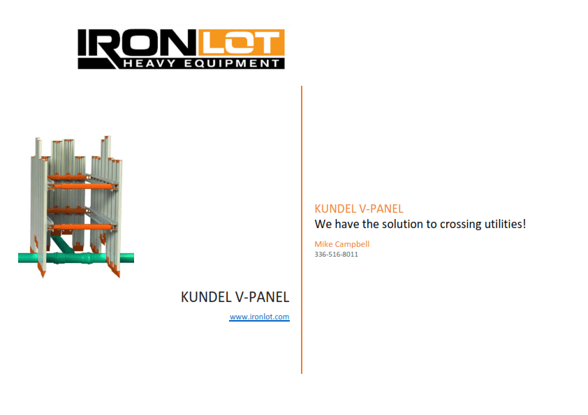 We have the solution to crossing utilities: Kundel V-Panel Aluminum Shoring, Trench Box / VPanel / Trench Box / VPanel Shoring