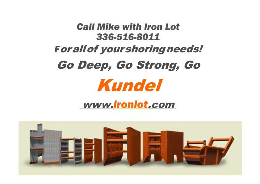Order your Kundel Trench Box today! Call Iron Lot 336-516-8011 to purchase a Kundel Vpanel Trench Box.