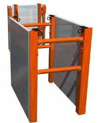 TuffGuy Aluminum Trench Box, 2' tall aluminum trench shield panels with steel end members.
