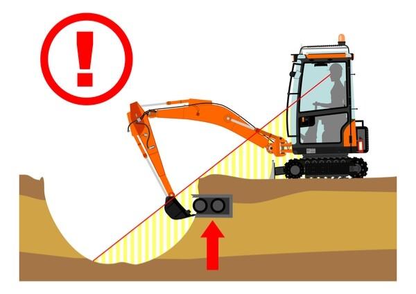 excavation blind spot
